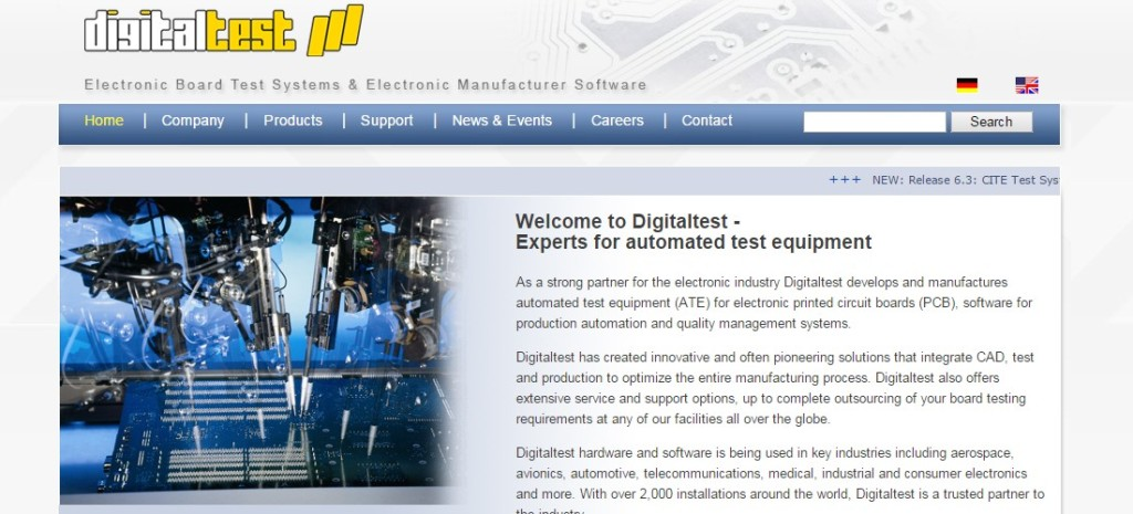 DigitalTest supplier of ICT test solutions en production test preparation software.