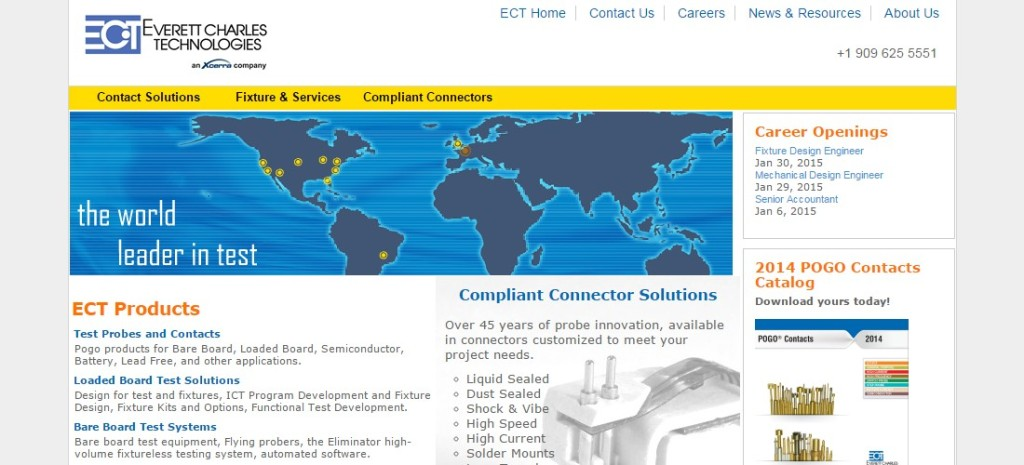 ECT test probes special connectors and ICT testfixtures