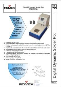 Digital solder pot