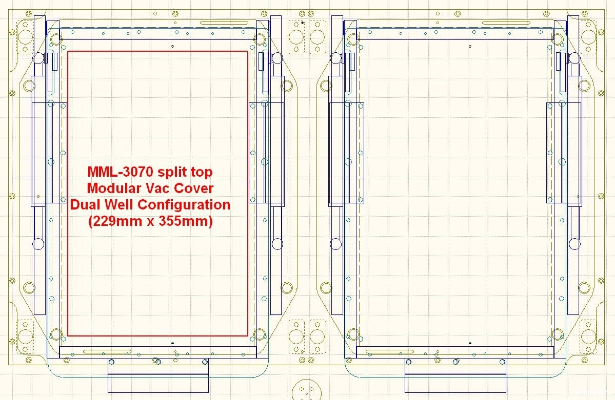 MML-3070_Split_Top_Kit_M3070_Modular_Vac_Cover_Dual_Well_Configuration