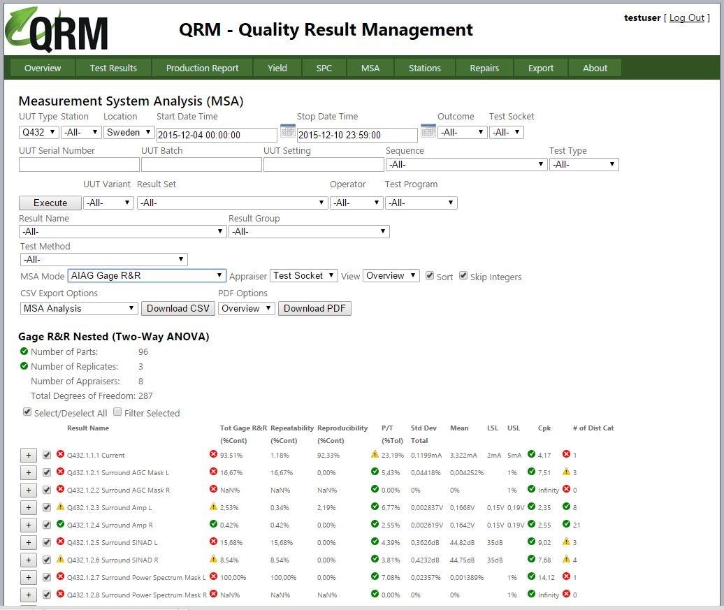 QRM-MSA-rapport