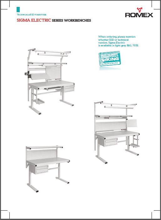 Viking Sigma Electric workbenches